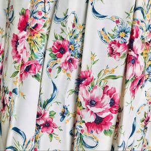 Vintage Susan Bristol floral garden pleat skirt 16